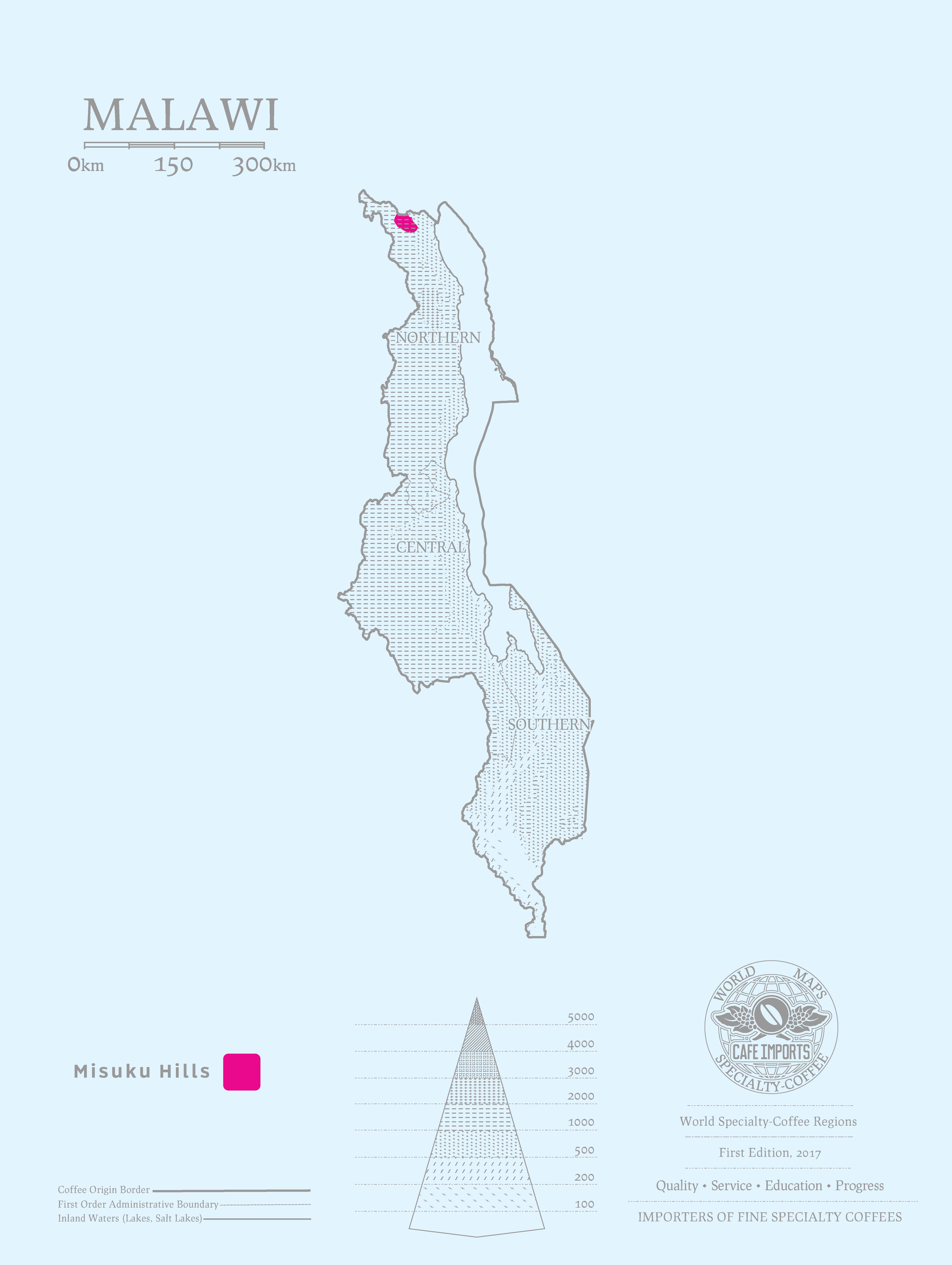 Cafe Imports Malawi - Malawi map png